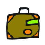 agendastickertje vakantie | zakenreis