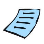 agendastickertje bijbehorend document in insteekhoes