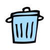 agendastickertje papieren afval
