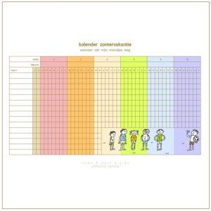 kalender zomervakantie